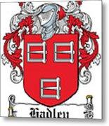 Hadley Coat Of Arms Irish Metal Print