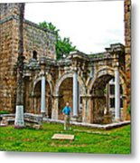 Hadrian's Gate In Antalya-turkey Metal Print