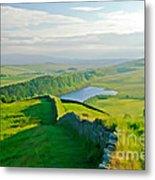 Hadrians Wall And Crag Lough Metal Print