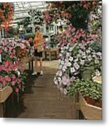 Haefner's Garden Center Impatiens Metal Print