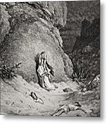 Hagar And Ishmael In The Desert Metal Print