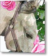 Haggis The Highland Rose Metal Print