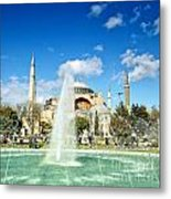 Haghia Sophia Fountain 02 Metal Print