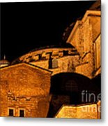 Hagia Sophia At Night Metal Print