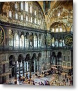 Hagia Sophia Interior Metal Print by Joan Carroll