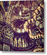 Hagia Sophia Lighting Metal Print