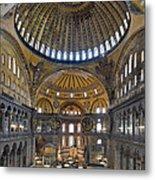 Hagia Sophia Museum In Istanbul Turkey Metal Print