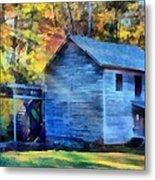 Hagood Mill With Sunrays Metal Print