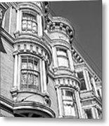 Haight Street Windows Bw Metal Print