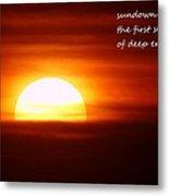 Haiku Sundown Metal Print