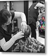 Hair Dresser - The First Cut Metal Print