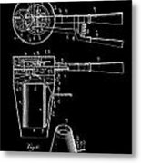 Hair Dryer 2 Patent Art 1911 Metal Print