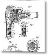 Hair Dryer 3 Patent Art 1931 Metal Print