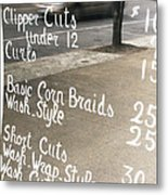 Hair Salon Sign Metal Print