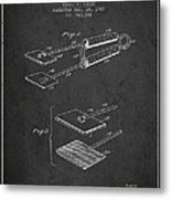 Hair Straightener Patent From 1909 - Charcoal Metal Print