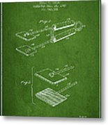 Hair Straightener Patent From 1909 - Green Metal Print