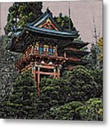 Hakoni Tea House Metal Print
