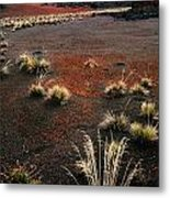 Haleakala - Red And Black Metal Print