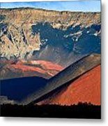 Haleakala Cinder Cones Lit From The Sunrise Within The Crater Metal Print