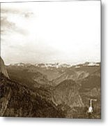 Half Dome From Glacier Point Yosemite Valley  California Circa 1910 Metal Print
