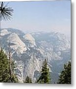 Half Dome Panorama View Metal Print