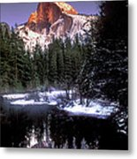 Half Dome Reflection Yosemite National Park California Metal Print