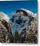 Half Dome Winter Metal Print