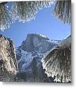 2m6757-halfdome In Winter Metal Print
