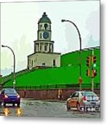 Halifax Historic Town Clock Graphic Metal Print