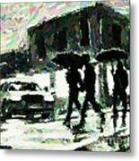 Halifax In The Rain One Metal Print