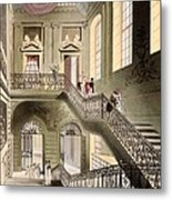 Hall And Staircase At The British Metal Print