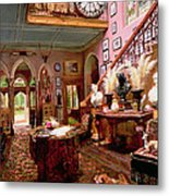 Hall And Staircase Of A Country House Metal Print