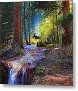 Hall Valley Moose Metal Print