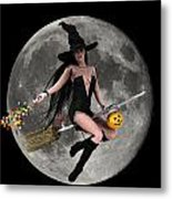 Halloween Fly By Metal Print by Frederico Borges