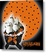 Halloween Ghost Cupcake 2 Metal Print