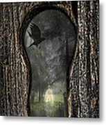Halloween Keyhole Metal Print