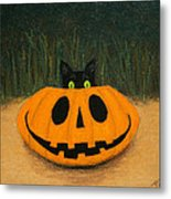 Halloween Kitty Metal Print