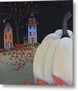 Halloween On Pumpkin Hill Metal Print
