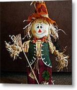 Halloween Scarecrow Metal Print