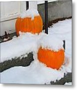 Halloween Snow Metal Print