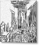 Hallway Of Distortion Metal Print