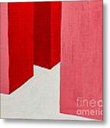 Hallway Red Metal Print