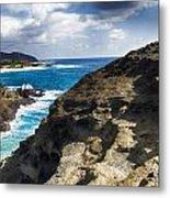 Halona Blowhole Lookout- Oahu Hawaii V2 Metal Print