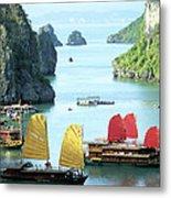 Halong Bay Sails 01 Metal Print
