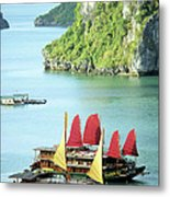 Halong Bay Sails 02 Metal Print