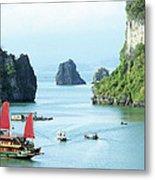 Halong Bay Sails 03 Metal Print