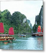 Halong Bay Sails 04 Metal Print
