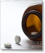 Haloperidol Tablets And Bottle Metal Print