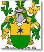 Haly Coat Of Arms Irish Metal Print