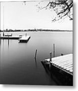Hamburg Alster In Winter Metal Print